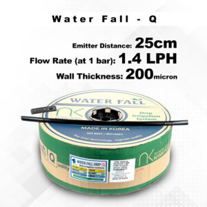 Drip Tape Water Fall-Q | 1.4 L/Hr 25cm